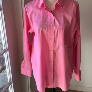 Foxcroft Wrinkle free pink button down (10)